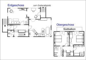 The floor plan of Chalet Trü