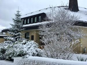 Landhotel Hubertus during the winter