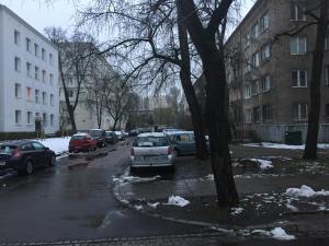City Garden Apartment during the winter