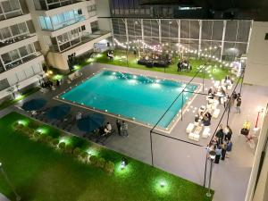A view of the pool at Moon Luxury Apartments or nearby