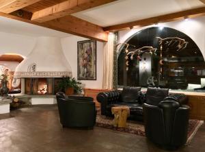 The lobby or reception area at Hotel Nolda