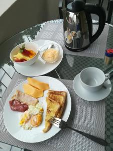 Breakfast options available to guests at Angel Guest House