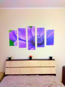 Кровать или кровати в номере Апартаменты на Сибгата Хакима 44