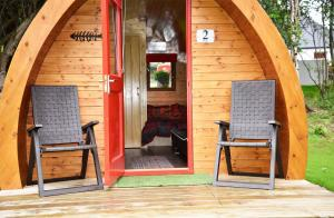 The facade or entrance of Dunvegan Camping Pods