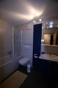 Ein Badezimmer in der Unterkunft Toepferhuus Albinen