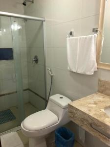 A bathroom at Pousada da Praia