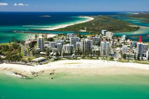 A bird's-eye view of Bayview Apartments Unit GA - Ground floor beachfront unit with private courtyard