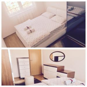 A bed or beds in a room at Apartment