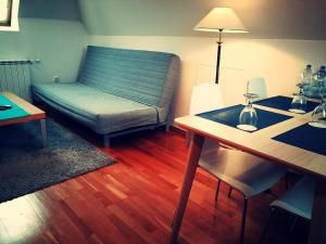 A seating area at Hotel Villa Ostrava 3+