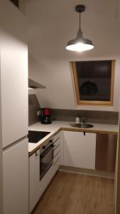 A kitchen or kitchenette at Seaside Apartment