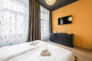 Телевизор и/или развлекательный центр в Meet of Prague Apartment