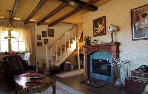 Ein Sitzbereich in der Unterkunft Country Home Cornelia