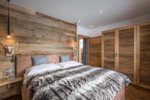 Ein Bett oder Betten in einem Zimmer der Unterkunft Haus Central