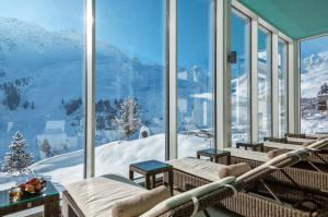 Arosa Kulm Hotel & Alpin Spa during the winter