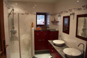 Salle de bains dans l'établissement La Parenthese insolite