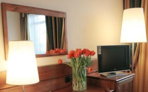 A television and/or entertainment center at Hotel Master