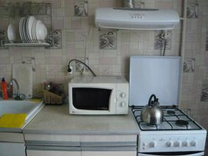 A kitchen or kitchenette at Apartment in Zlatoust