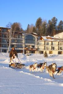 Golden Arrow Lakeside Resort during the winter