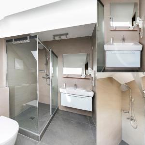 A bathroom at Hotel Stroblerhof