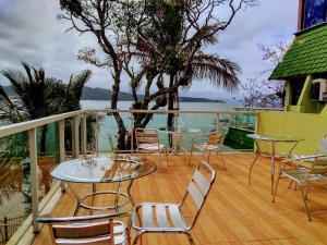 Uma varanda ou terraço em Pousada Praia da Lagoinha