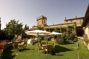 A garden outside Castello Di Gargonza