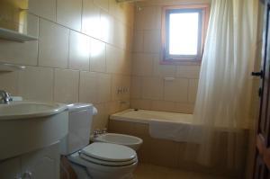 A bathroom at La Estancia
