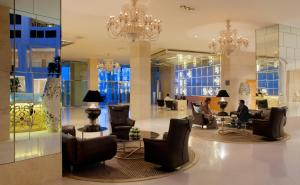 The lobby or reception area at Radisson Blu Hotel New Delhi Dwarka