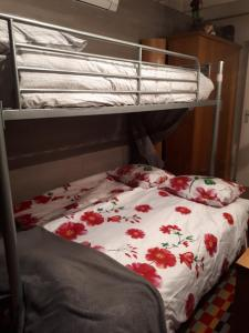 A bunk bed or bunk beds in a room at Kitty's Place Warmond