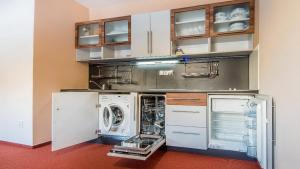 A kitchen or kitchenette at Apartman Mariana