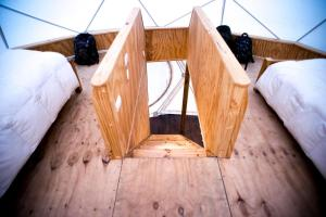 A bed or beds in a room at Domos Treepod