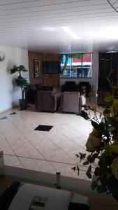 The lobby or reception area at Hotel Nápoli