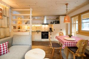 A kitchen or kitchenette at Chalet Apartments ALPIK