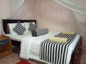 En eller flere senge i et værelse på Blue Ribbon Homestay