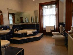 A bathroom at Mansfield Castle Hotel