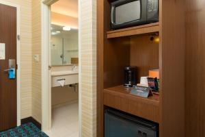 A television and/or entertainment center at Fairfield Inn & Suites by Marriott Sacramento Folsom