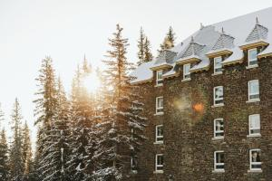 Fairmont Banff Springs during the winter