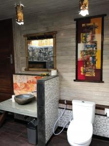 A bathroom at The Jingga Villas