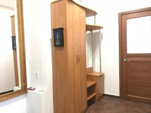 Телевизор и/или развлекательный центр в Отель Монблан