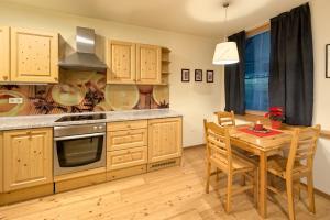 Kuhinja oz. manjša kuhinja v nastanitvi Apartments Budinek
