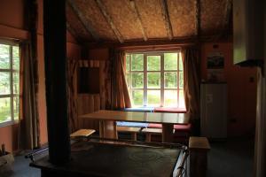 Zona de estar de Cabañas Patagoniaventura