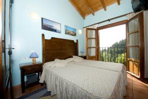 Cama o camas de una habitación en Agroturismo Ordaola