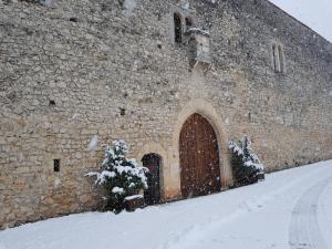Monastero Fortezza di Santo Spirito durante l'inverno
