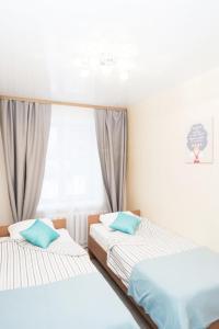 Кровать или кровати в номере Квартира в центре