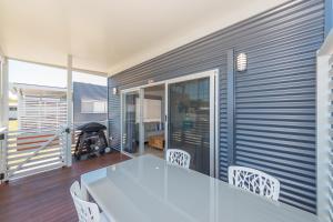A balcony or terrace at BIG4 Colonial Holiday Park Harrington