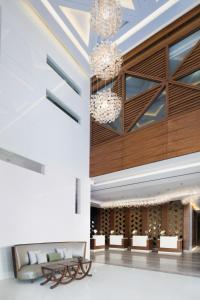 The lobby or reception area at Radisson Blu Hotel, Dubai Waterfront
