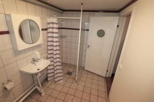 Ett badrum på Lyckans Vandringshem