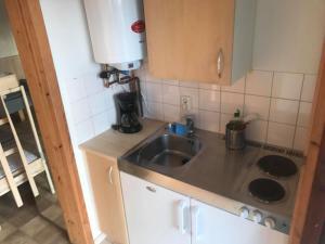 Ett kök eller pentry på Vilsta Camping and Cottages