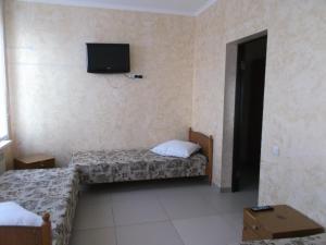 Кровать или кровати в номере Katerina Motel