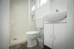 Een badkamer bij Campingpark de Bongerd