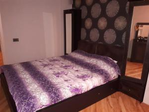 Cama ou camas em um quarto em Apartment with Baku City and F1 view